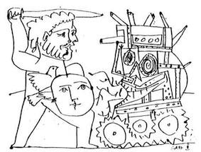 Picasso – Zu Krieg und Frieden. Plakatmotiv der ersten Ausstellung der Galerie im Bunker / KunstGesellschaft, 1981